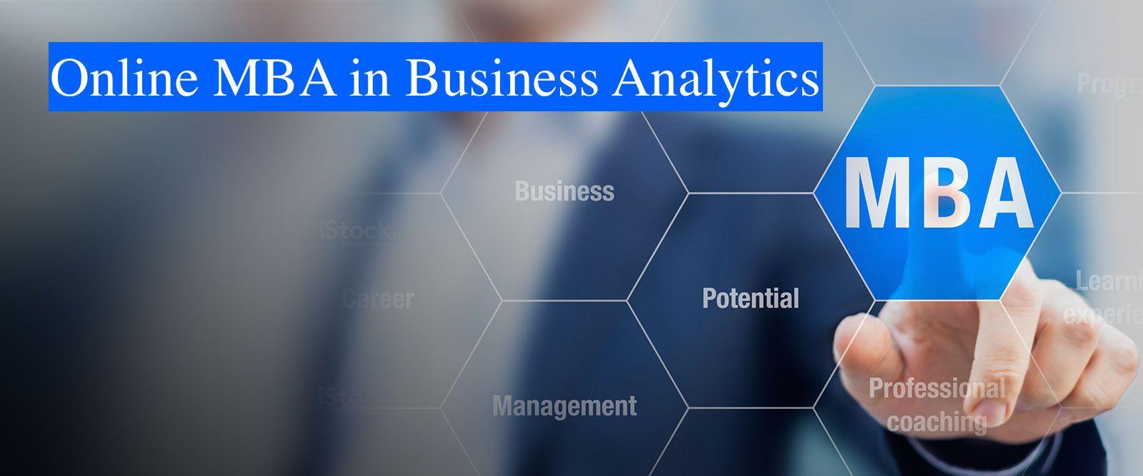 Distance & Online MBA in Business Analytics